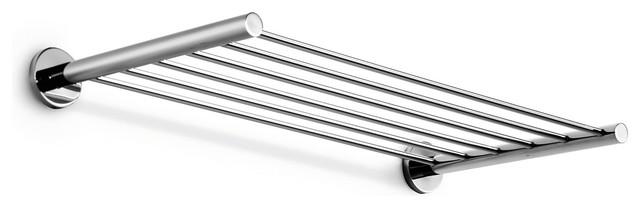 """Napie 23.6"""" Chrome Towel Rack contemporary-towel-racks-and-stands"""