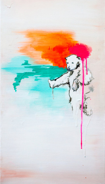 Polar Bear Painting, Limited Edition Archival Print By aFineColorMess contemporary-nursery-decor