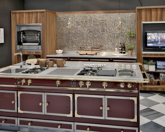 La Cornue Chateau cooktop, Chateau cabinetry and Flamberge rotisserie -