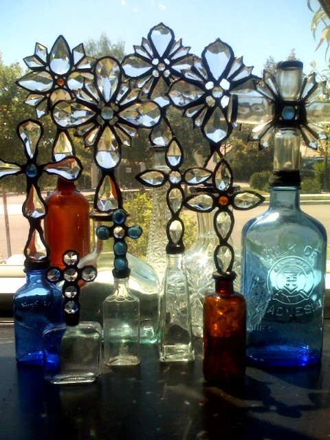 Cross Bottles eclectic artwork