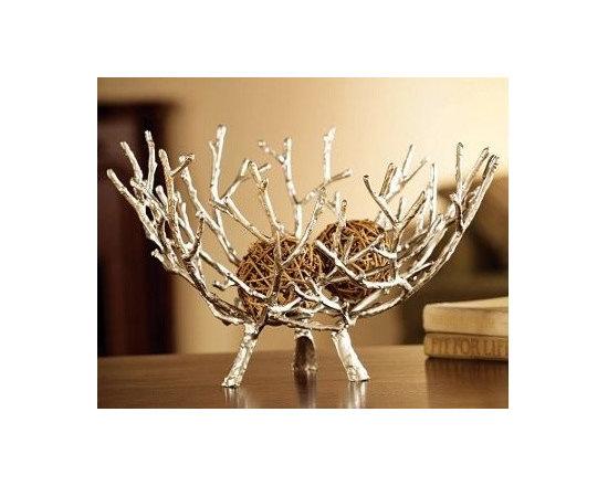 Silver Twig Bowl -
