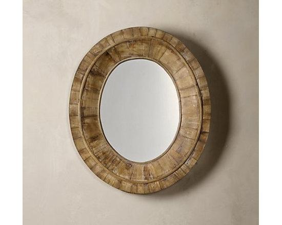 Pieced Oval Mirror -