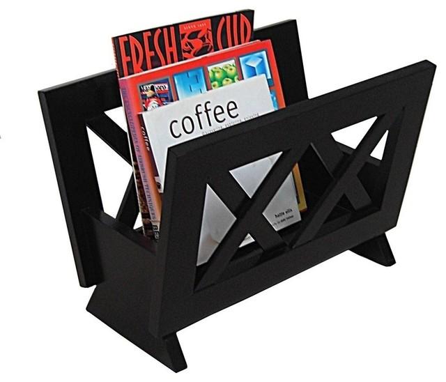 Modern mahogany wooden magazine rack Monica modern-magazine-racks