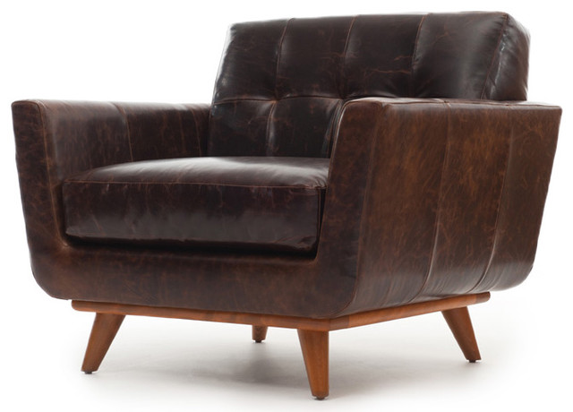 Nixon Leather Chair Modern Armchairs And Accent Chairs