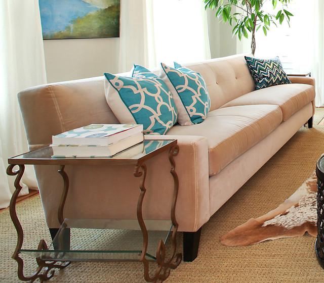 Taupe Velvet Sofa: TMD-Taupe Velvet Sofa