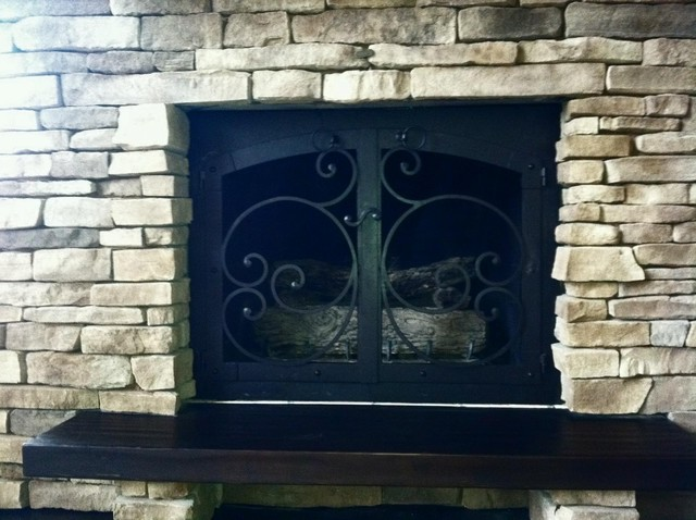 ornamental iron fireplace doors indoor fireplaces cleveland by