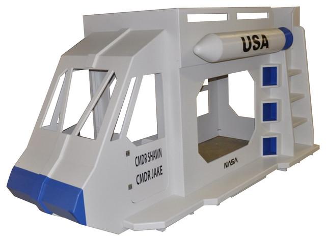 Rocket Ship Bunk Bed W Missile