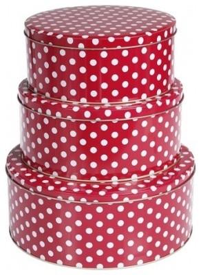 Red Polka Dot Cake Tins