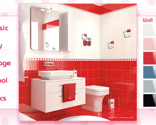 Hello Kitty Tile - Hello kitty fan the time is here. Hello Kitty tile are here.