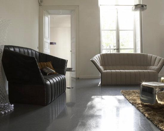 Moel - Ligne Roset - Moel sofa, Glacon occasional tables,