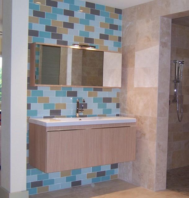 Italian contemporary bath with old world basics contemporary
