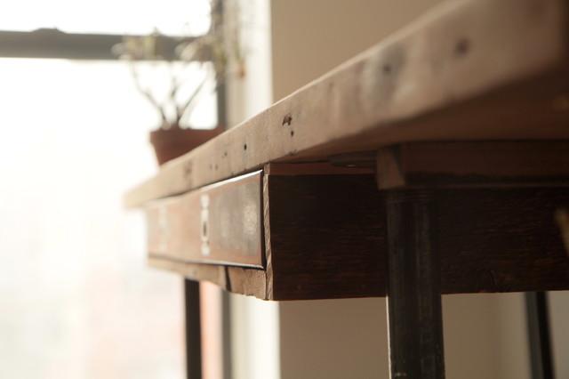 Industrial Reclaimed Wood Stand Up Desk Modern Desks