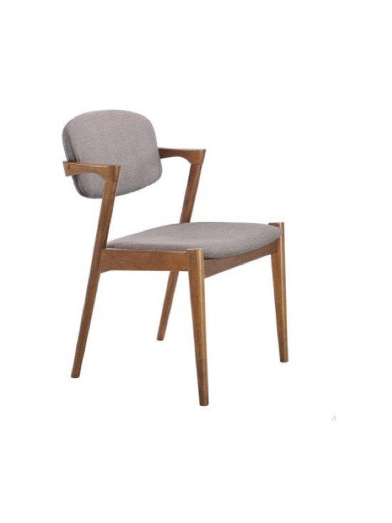Zuo Modern Brickell Dining Chair, Flint Gray - Brickell Dining Chair