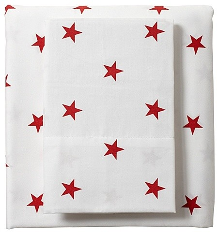 Red Star Sheet Set traditional sheet sets