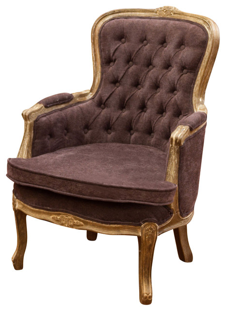 Scott King French Design Arm Chair, Dark Grey - Traditional ...