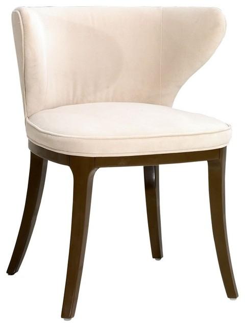 Art Deco Light Cream Dining Chair Modern Seat Cushions