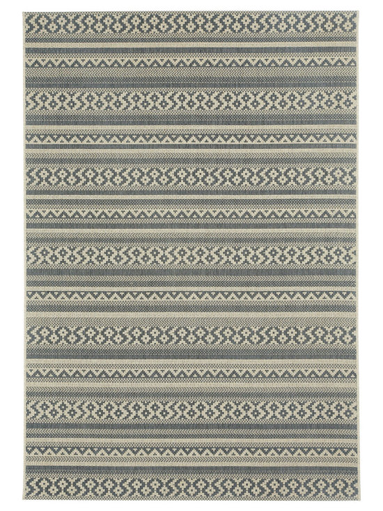 """Finesse Afghan rug in Charcoal - An esteemed """"Capel Anywhere"""" rug collection woven on precision machine looms in Europe. These versatile rugs can be used in high traffic areas indoors - like kitchens and sunrooms - or to dress up covered porches and decks outside."""