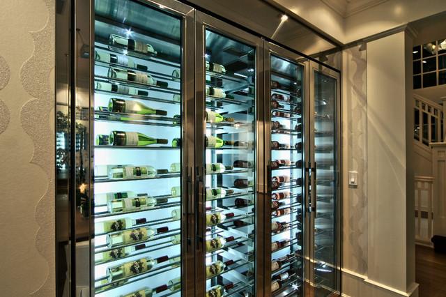 Custom Wine Fridge Vin de Garde modern-wine-cellar