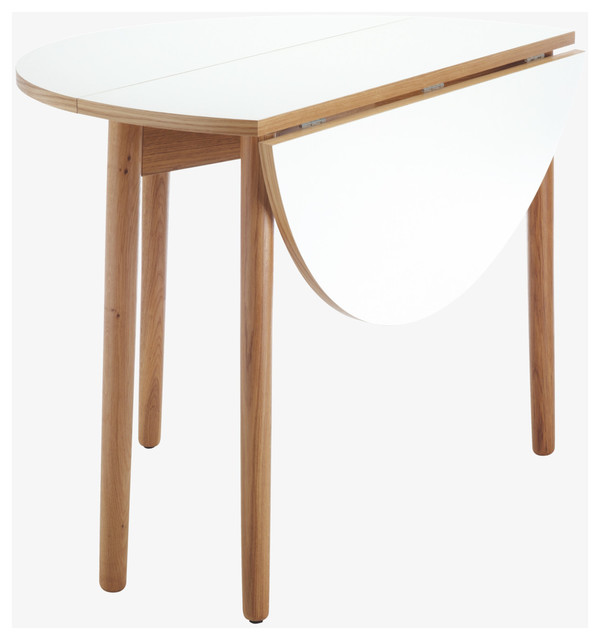 Suki White Folding Dining Table Traditional Dining Tables By