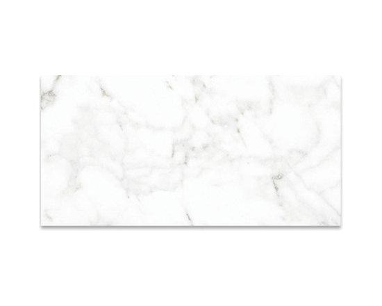 "Avorio 12"" x 24"" | Polished Wall Field Porcelain Tile | Eleganza Calacatta Visio - http://www.worldclasstiles.com/porcelain-ceramic/brand/eleganza/calacatta-vision/12-x-24-wall-field-tile-polished-calacatta-vision-eleganza/"