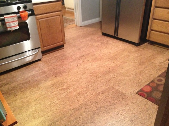 Cork floor in Los Gatos kitchen - Contemporary - san francisco - by ...