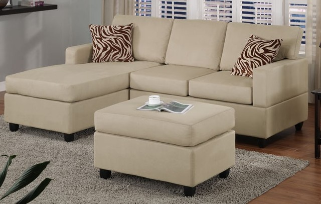 pebble microfiber sectional sofa with reversible chaise ottoman contemporary sectional sofas salt lake city