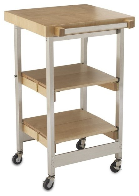 Folding cart contemporary kitchen islands and kitchen carts for Collapsible kitchen cart