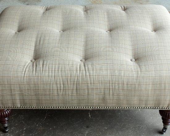 Customer Custom Orders - Robin Bruce Pallenburg Ottoman at Barnett Furniture in Trussville / Birmingham, AL.  You Choose the Fabric