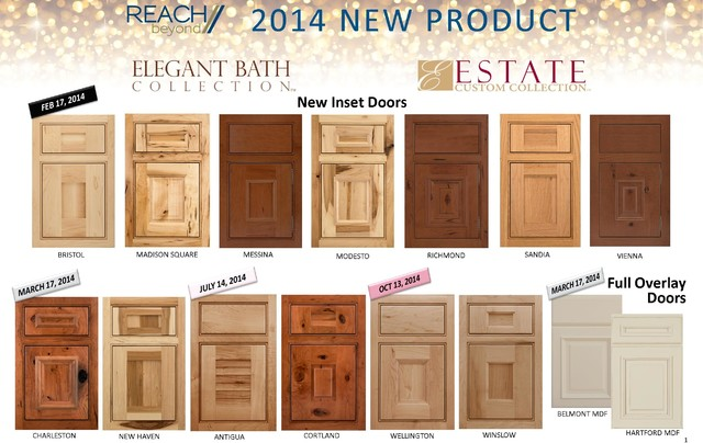 2014 Door Styles - Transitional - Kitchen Cabinetry - birmingham - by Wellborn Cabinet, Inc.