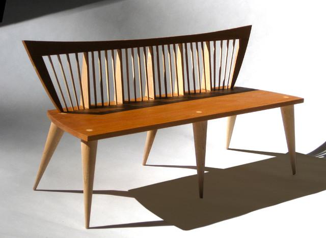 Modern banquette bench