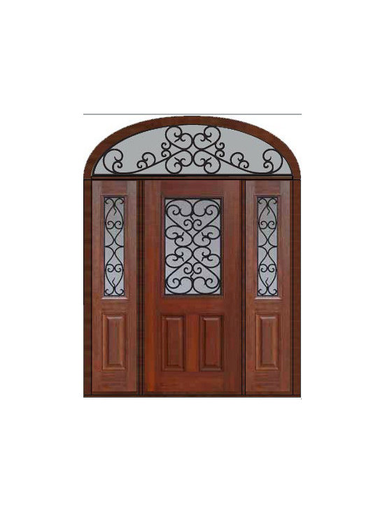 "Prehung Sidelites-Transom Door 80 Fiberglass Palermo 1/2 Lite - SKU#    MCT012WP_DFHPG1-2EPGBrand    GlassCraftDoor Type    ExteriorManufacturer Collection    1/2 Lite Entry DoorsDoor Model    PalermoDoor Material    FiberglassWoodgrain    Veneer    Price    4655Door Size Options    32"" + 2( 14"")[5'-0""]  $036"" + 2( 14"")[5'-4""]  $036"" + 2( 12"")[5'-0""]  $0Core Type    Door Style    Door Lite Style    1/2 LiteDoor Panel Style    2 PanelHome Style Matching    Door Construction    Prehanging Options    PrehungPrehung Configuration    Door with Two Sidelites and Elliptical TransomDoor Thickness (Inches)    1.75Glass Thickness (Inches)    Glass Type    Double GlazedGlass Caming    Glass Features    Tempered glassGlass Style    Glass Texture    Glass Obscurity    Door Features    Door Approvals    Energy Star , TCEQ , Wind-load Rated , AMD , NFRC-IG , IRC , NFRC-Safety GlassDoor Finishes    Door Accessories    Weight (lbs)    698Crating Size    36"" (w)x 108"" (l)x 89"" (h)Lead Time    Slab Doors: 7 Business DaysPrehung:14 Business DaysPrefinished, PreHung:21 Business DaysWarranty    Five (5) years limited warranty for the Fiberglass FinishThree (3) years limited warranty for MasterGrain Door Panel"