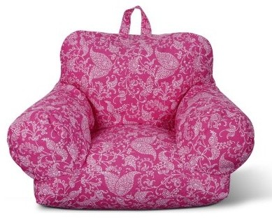 Fun Factory Junior Arm Chair - Pink Paisley modern-armchairs-and-accent-chairs