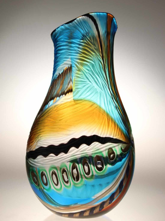 Murano Glass Studio Vases - We now have a selection of over 98 new studio vases by one of Venices top Maestro's so here is a snippet. These vases are offered to you before being formally released to the general public. If you are interested, I strongly urge you to purchase NOW prior to being formally released as they will not last long. Please contact us ASAP for pricing, dimensions and to reserve your vase. We will then invoice you for payment via our paypal Business account. Please include an image link to the vase you wish to purchase or copy and past it onto an email so I can match you inquiry to the vase you wish to purchase.  Please include the image link in your email to allow easy correpsondence answers
