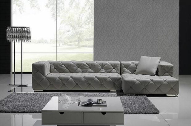 Exclusive Tufted 100% Italian Leather Sectional contemporary-sectional-sofas