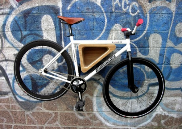 Wood Triangle Bike Rack contemporary-storage-and-organization