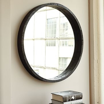 Round Mango Wood Mirror | west elm contemporary mirrors