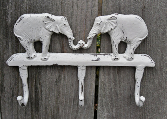 Elephant Coat Rack/Wall Hook/Cast Iron by The Shabby Shak modern-hooks-and-hangers