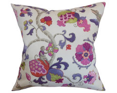 Majella Floral Pillow Purple Sage traditional-pillows