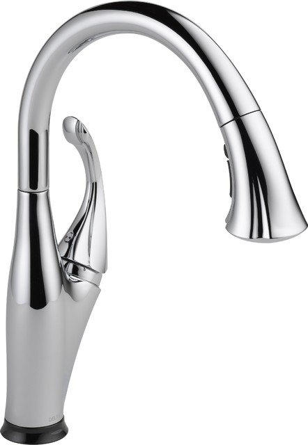 delta touch2o kitchen faucet traditional kitchen our new delta touch2o kitchen faucet
