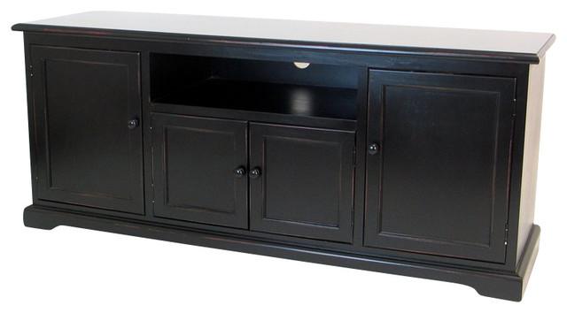 "Wayborn Birchwood 58"" TV Stand Console in Black ..."