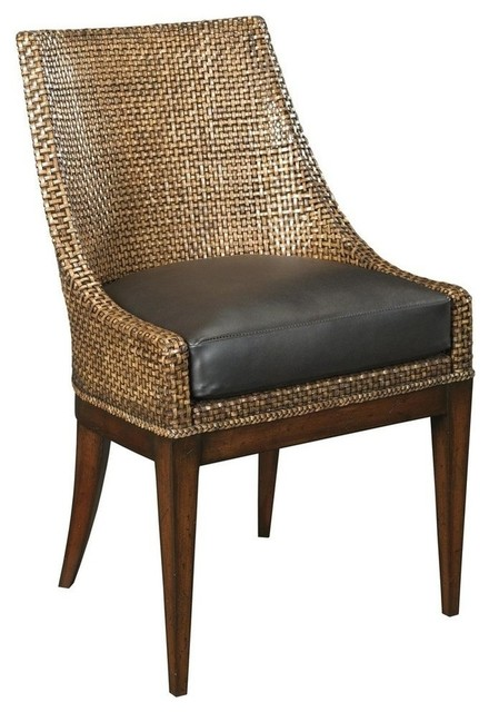 New Side Chair Woven Leather Upholstered Traditional  : traditional dining chairs from www.houzz.com size 440 x 640 jpeg 66kB