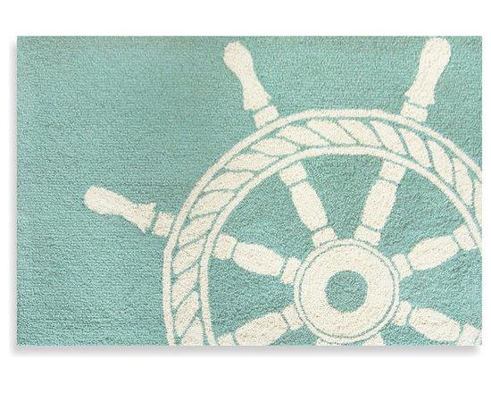 Trans-Ocean Front Porch Ship Wheel Doormat -