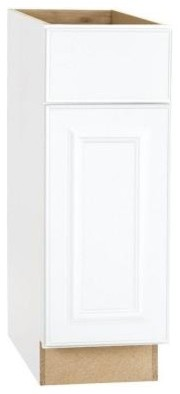 Hampton Bay 12x34.5x24 in. Base Cabinet with Ball-Bearing Drawer Glides in Satin contemporary-kitchen-cabinetry