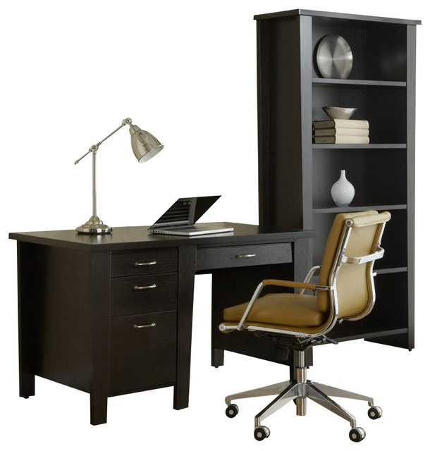 Jesper 900 collection modern office desk 51 espresso modern desks and hutches by - Jesper office desk ...