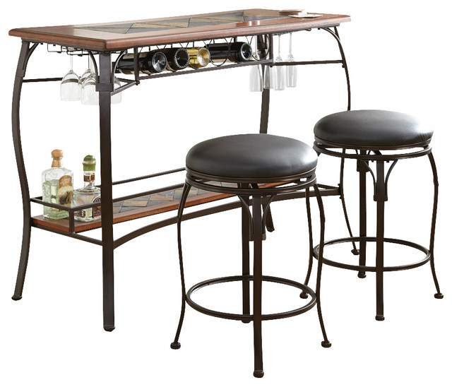 Steve Silver Dakota 3 Piece Bar Table Set Set of 3  : modern dining sets from www.houzz.com size 640 x 548 jpeg 77kB