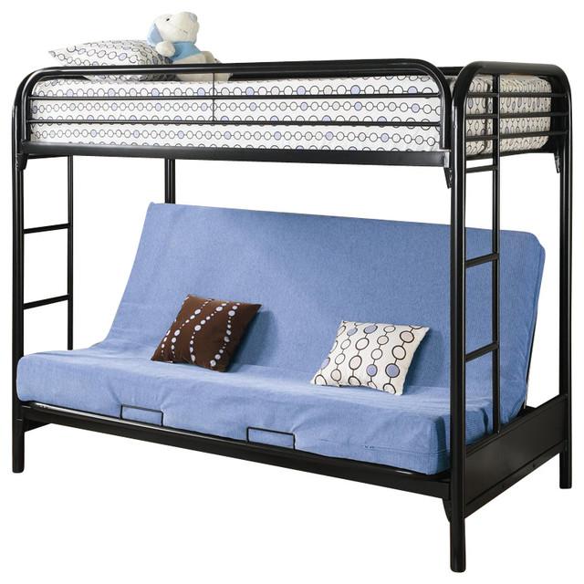 Coaster Fordham Twin Over Full Futon Metal Bunk Bed in