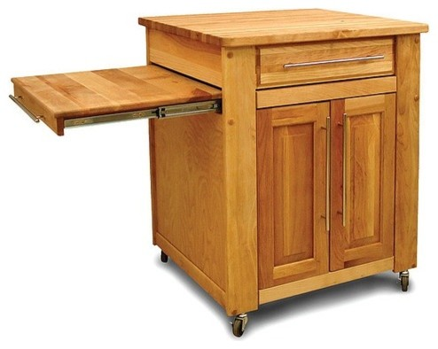 mini empire kitchen cart with butcher block top modern