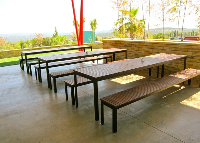 Sol Outdoor Dining Set Modern Outdoor Dining Sets Austin By Sarabi Studio