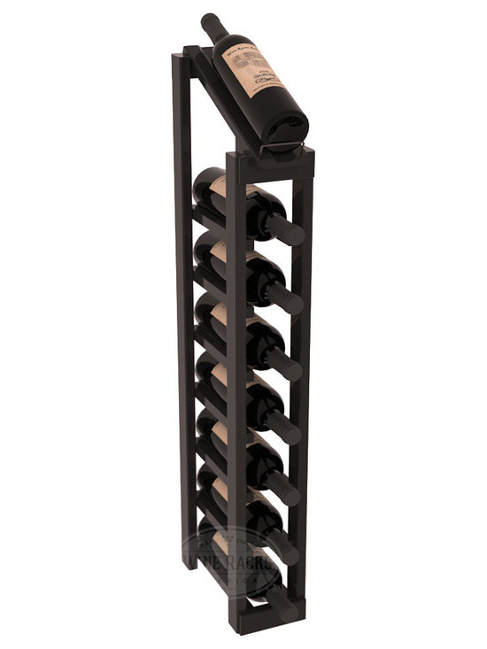 Wine Racks America - 1 Column 8 Row Display Top Kit in Redwood, Black Stain + Satin Finish - Make your best vintage the focal point of your cellar or store. The slim design is a perfect fit for almost any space. Our wine cellar kits are constructed to industry-leading standards. You'll be satisfied. We guarantee it. Display top wine racks are perfect for commercial or residential environments.