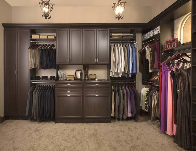 Sample Ideas of what your closet COULD look like! traditional-closet-organizers